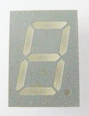 7-Segment-Anzeige, 13mm, grün, Kathode