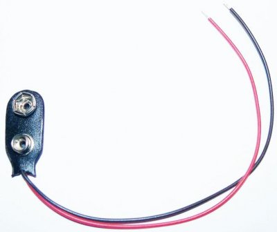 Batterieclip für 9V- Block, I-Form