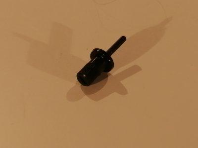 Stellachse für Trimmer ACP CA9MV, Lang mit Kragen, schwarz