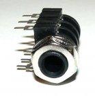 Stereo-Klinkenbuchse 6,35mm, print mit Schalter