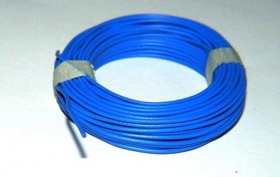 Isolierter Draht, 0,5mm, Blau, 10m-Ring