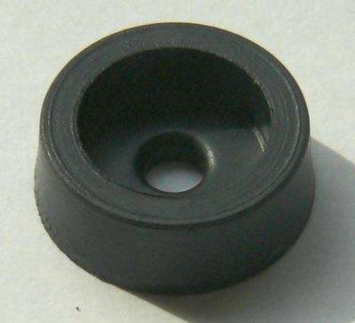 Gehäuse-Schraubfuss, 12,5mm mit 3mm-Bohrung, schwarz