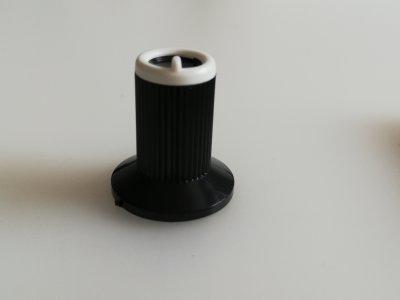 Poti-Knopf für 6mm, Typ 2, 10x19mm, weiss